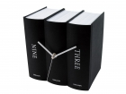 Table clock Book black paper 20x15x20cm