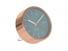 Alarm clock Minimal jeans blue w. copper case