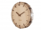 Wall clock Rib light wood, light wood numbers