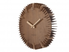 Wall clock Rib dark wood, dark wood numbers