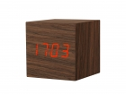 Alarm clock Cube Pure rose wood small