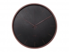 Wall clock Mist black w. wooden case