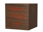 Alarm clock Cube Pure rose wood big