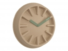Wall clock Paper Pulp natural, jungle green hands