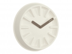Wall clock Paper Pulp white, black hands