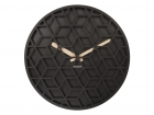 Wall clock Discrete wood black, D.36cm, H.5cm