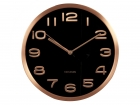 Wall clock Maxie copper numbers black