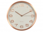 Wall clock Maxie copper numbers white