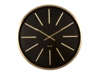 Wall clock Maxiemus brass station black