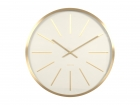 Wall clock Maxiemus brass station white