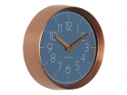 Wall clock Convex jeans blue, copper case