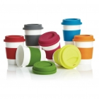 PLA Coffee cup, wit/groen