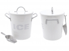 Ice cooler Ice with tin scoop white