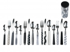 Cutlery set Mix & Match black & white assorted