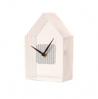 Wall clock Mesh House metal white