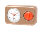 Clock with kitchen timer Nostalgia matt gold