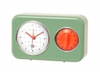 Clock with kitchen timer Nostalgia jade green