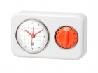 Clock with kitchen timer Nostalgia ivory white
