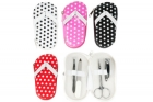 Manicure set Dotted slippers assorted