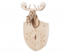 Wall clock DIY Moose wood