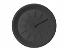 Wall clock Station black plastic