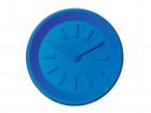Wall clock Station blue plastic