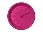 Wall clock Station pink plastic
