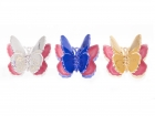 Lip gloss Butterfly 3 assorted metallic colours