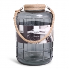 Glass Jar XL Grey