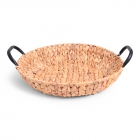 SENZA Hyacinth Shallow Basket with Handles