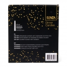 SENZA Dining Candles black 15cm /6