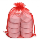 SENZA Organza Tealight Bag /8 Red