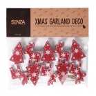 SENZA Garland with photo clips Red
