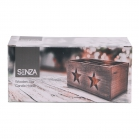 SENZA Square Glass/Wood Star Candle Holder