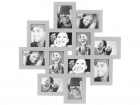 Photo frame Cluster MDF large silver
