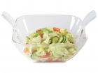 Salad bowl w. salad server clear