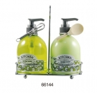 KITCHEN LEMON set Handsoap+Lotion in rack