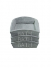 Wooden box GRAY 17 * 22 * 6 with BATH on long side
