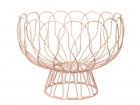 Fruit bowl Wired peach pink metal