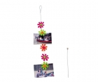 Card- & photo holder Flowers steel wire