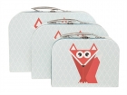 Storage set suitcase Geo Forest Fox paper