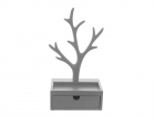 Jewellery Tree w. drawer grey