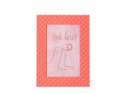 Photo frame Relief alu neon orange medium