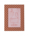 Photo frame Relief alu copper large