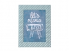Photo frame Relief alu dusk blue large