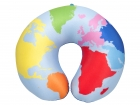 Neck pillow World Map coloured w. hook